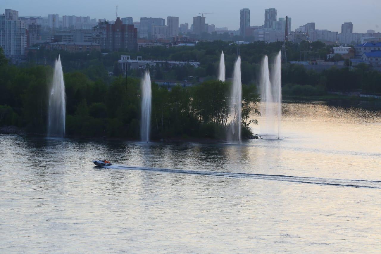 Речной фонтан КрасКом